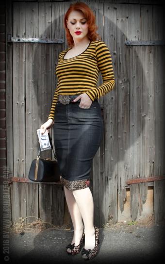 Perfect Jeans Pencil Skirt - schwarz