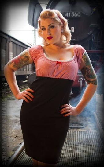 Carmenkleid Sweet Vichy