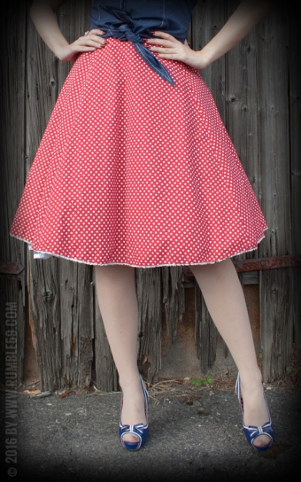 Petticoat Sweet Polkadots - bordeaux