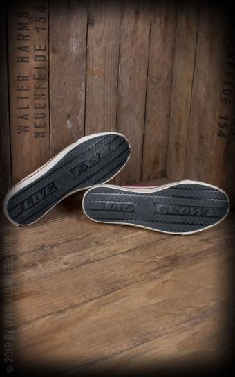 Burnout-Sneaker Lo Top - bordeaux