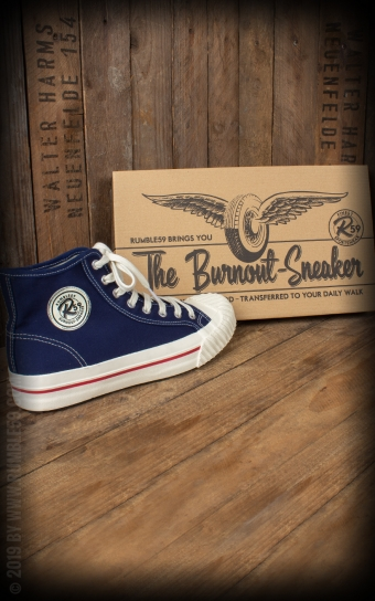 Burnout-Sneaker - navy blue