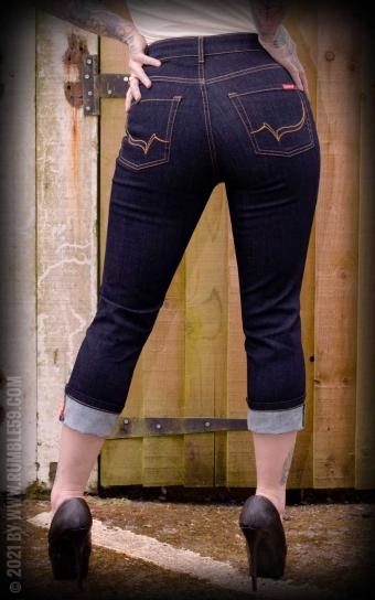 High-waisted Capri Jeans - Second Skin