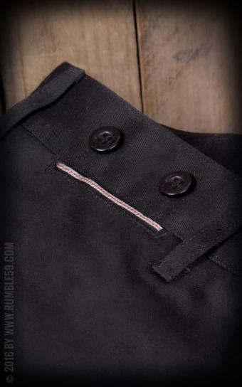 Chino Pants California | Selvage - black