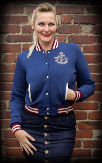 Ladies Sweat College Jacket - Anchors aweigh!
