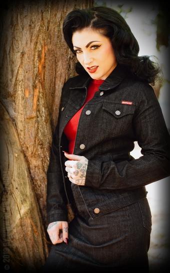Ladies Denim Jacket - noir