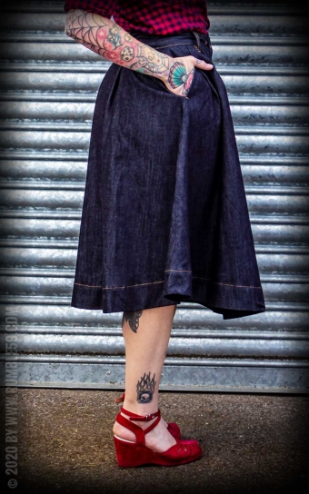 Jupe en jean | Swing Skirt