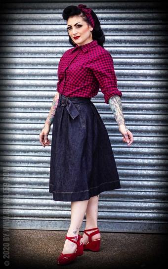 Jeans Tellerrock | Swing Skirt