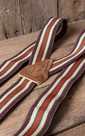 Suspenders - colour combination brown