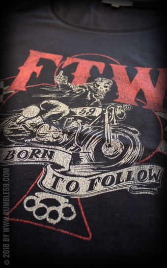 Ladies Scoop Neck Shirt - Not born to follow