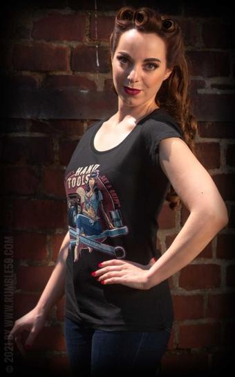 Ladies Scoop Neck Shirt - Hotrod Bettys Handtools