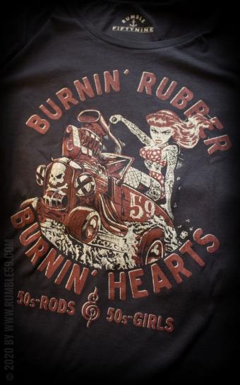 Ladies T-Shirt Burnin Rubber