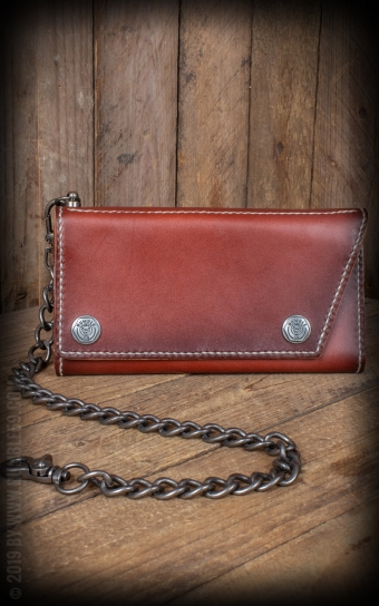 Leder Wallet Kamm - sunburst handmade