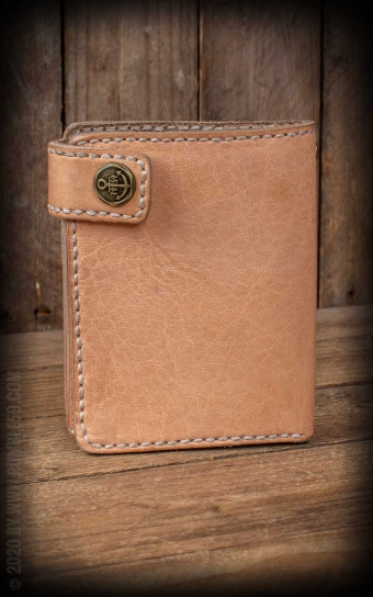 Leder Wallet Natural - compact size