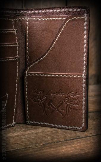 Leder Wallet Tripartite - compact size