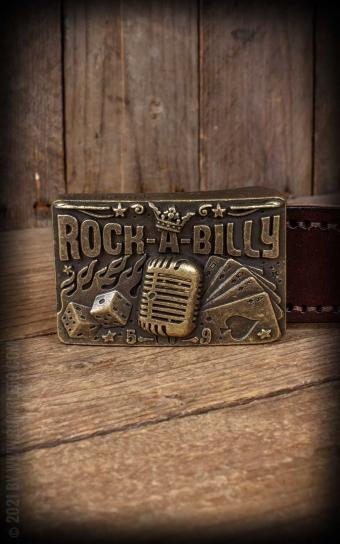 Ceinture en cuir à boucle en métal - Rockabilly
