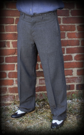 Vintage Loose Fit Pants New Jersey - grau/schwarz