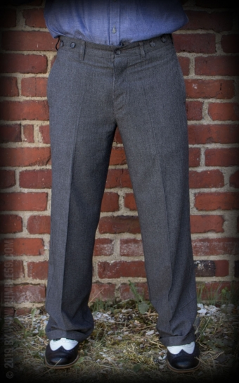 Vintage Loose Fit Pants New Jersey - gris/noir