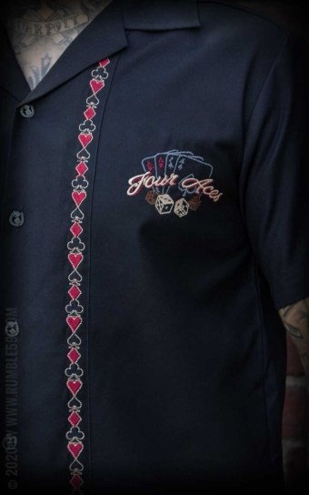Lounge Shirt Four Aces - schwarz