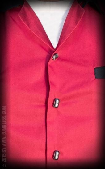 Lounge Shirt TCB-Diamonds - rot