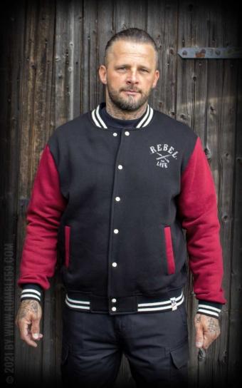 Herren Sweat College Jacke - Rebel for life