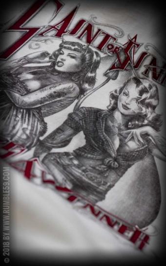 T-Shirt Saint or Sinner - offwhite