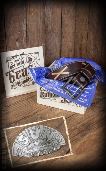 Set Leather belt Brando brown+Buckle Sun Records Company