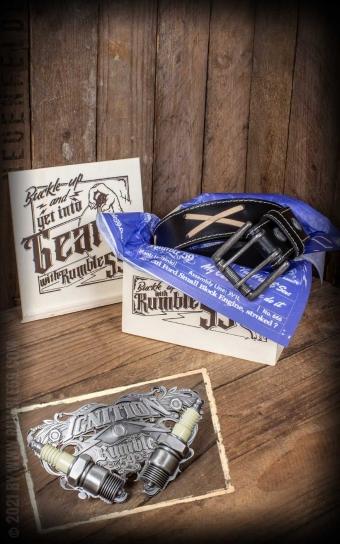 Set Leather belt Brando black+Buckle Ignition