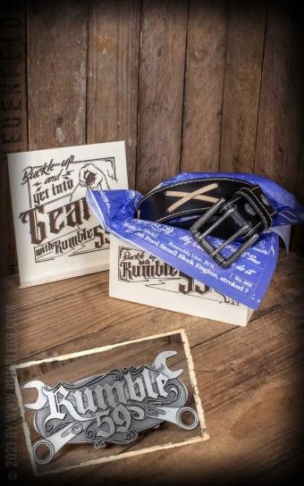 Set Leather belt Brando black+Buckle Wild Wrench