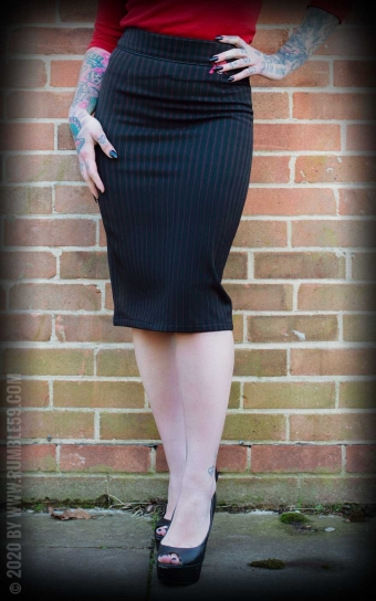 Perfect Pencil Skirt - Pinstripe