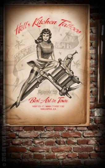 Poster - Hells Kitchen Tattoo