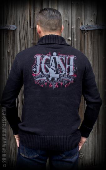 Racing Sweater Man in Black