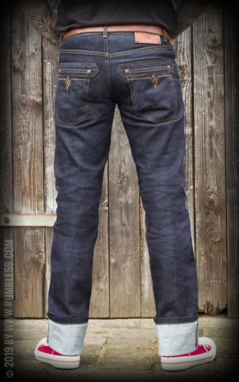 Raw Denim - Blue Burning Blacktop