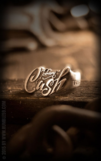 Edelstahl-Ring Johnny Cash