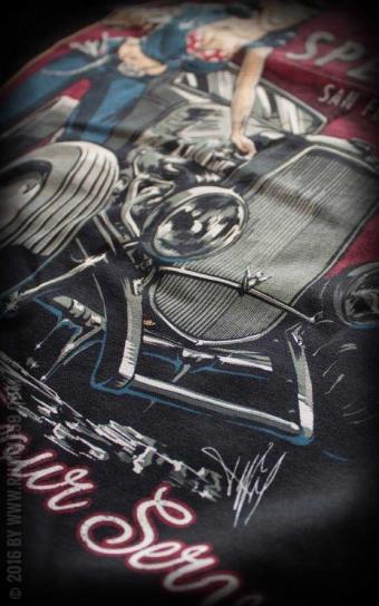 Ladies V-Neck Shirt Hotrod Bettys Speed Shop