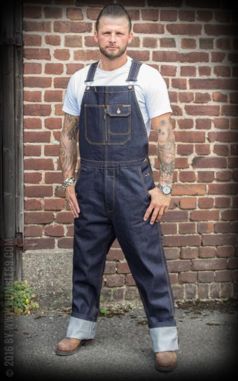Denim Dungarees Raw Selvage