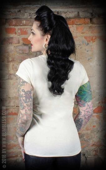Ladies T-Shirt Saint or Sinner - offwhite