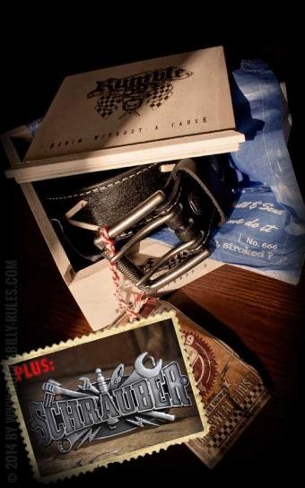 Set ceinture de cuir Marlon Brando noir+ boucle Schrauber