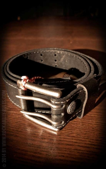 Set Leather belt Brando black+Buckle Wild Wrench
