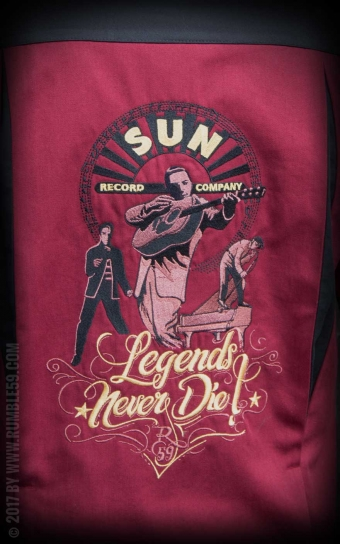 Bowling Shirt SUN, Legends never die