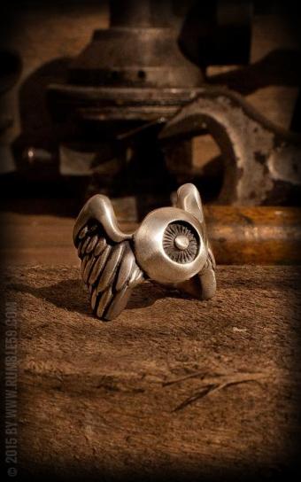 Stainless Steel Ring Flying Eyeball