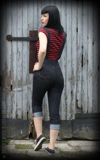 Ladies Jeans Latzcapri