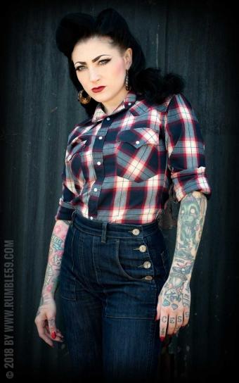 Chemise à carreaux Gorgeous Girl Scout