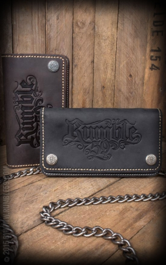 Leather Wallet - marron ou noir