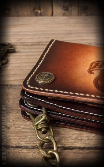 Leder Wallet Anker - sunburst handmade