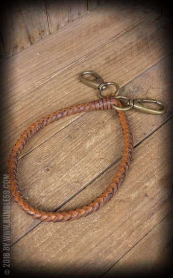 Leather Wallet Chain, braided