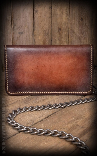 Leather Wallet sunburst handmade