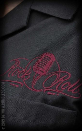 Lounge Shirt Sound of RocknRoll - bordeaux