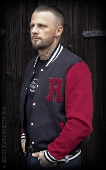 Herren Sweat College Jacke - RnR until I die
