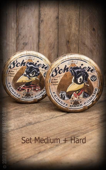 Schmiere Set 2x Poker Pomade with Poker Game