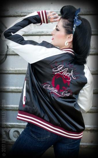 Souvenir Jacket | 2-in-1 Satin Bomberjacke Hells Belles